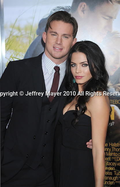 "HOLLYWOOD, CA. - February 01: Channing Tatum and Jenna Dewan arrive at the ""Dear John"" World Premiere held at Grauman's Chinese Theatre on February 1, 2010 in Hollywood, California."