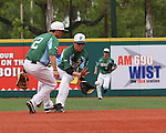 The Tulane Green Wave battle the  Rice Owls in a baseball game played at Turchin Stadium.  Rice went on to defeat Tulane 11-8.