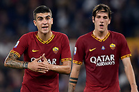 Gianluca Mancini of AS Roma , Nicolo Zaniolo of AS Roma <br /> Roma 27-10-2019 Stadio Olimpico <br /> Football Serie A 2019/2020 <br /> AS Roma - AC Milan<br /> Foto Andrea Staccioli / Insidefoto