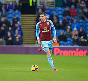 9th December 2017, Turf Moor, Burnley, England; EPL Premier League football, Burnley versus Watford; Stephen Ward of Burnley runs the ball out of defence