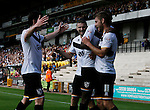 Port Vale 3 Doncaster Rovers 0, 22/08/2015. League One, Vale Park. Goal celebration by Port Vale's Sam Foley. Photo by Paul Thompson.