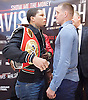 Floyd Mayweather Jr &amp; Frank Warren press conference at The Savoy Hotel, London, Great Britain <br /> 7th March 2017 <br /> <br /> Gervonta Davis <br /> (an American professional boxer who has held the IBF junior lightweight title since January 2017)<br /> <br /> Liam Walsh <br /> (a British professional boxer and the current Commonwealth super featherweight champion)<br /> <br /> <br /> <br /> Photograph by Elliott Franks <br /> Image licensed to Elliott Franks Photography Services