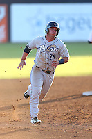 Ty France (25) of the Tri-City Dust Devils runs the bases during a game against the Vancouver Canadians at Nat Bailey Stadium on July 23, 2015 in Vancouver, British Columbia. Tri-City defeated Vancouver, 6-4. (Larry Goren/Four Seam Images)