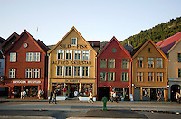 Tyskebrygga ( German bridge ) tourist attraction in Bergen Norway
