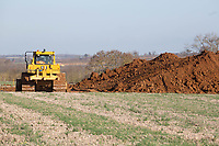 Start of a new quarry on farmland<br /> &copy;Tim Scrivener Photographer 07850 303986<br />      ....Covering Agriculture In The UK....