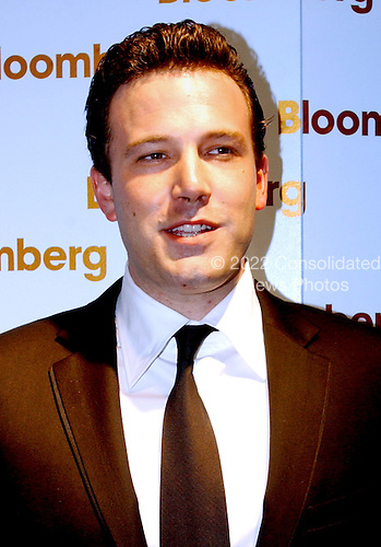 Washington, DC - May 1, 2004 -- Ben Affleck arrives for the Bloomberg party following the 2004 White House Correspondents Association Dinner in Washington, D.C. on May 1, 2004..Credit: Ron Sachs / CNP.(RESTRICTION: No New York Metro or other Newspapers within a 75 mile radius of New York City)