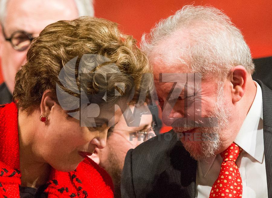 BRASÍLIA, DF, 05.07.2017 - PT - DIRETORIO -     O ex-presidente Lula e a ex presidente Dilma Rousseff, durante a posse do Diretório Nacional do PT, no Centro de Convenções Brasil 21, em Brasília, nesta quarta, 05. (Foto: Ed Ferreira/Brazil Photo Press).
