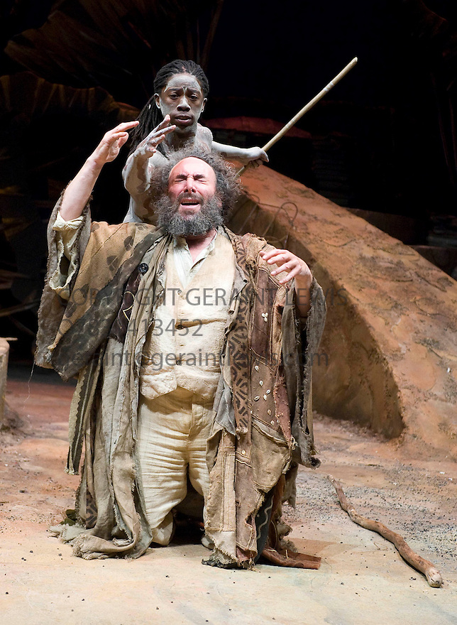 The Tempest by William Shakespeare, A Baxter Theatre Centre  in association with The Royal Shakespeare Company Production,directed by Janice Honeyman . With Antony Sher as Prospero,Atandwa Kani as Ariel Opens at The Courtyard Theatre in Stratford Upon Avon on 18/2/09 CREDIT Geraint Lewis