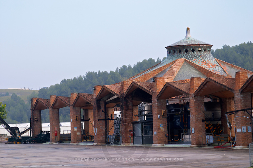 Winery building. Traditional Catalan architecture style. Codorniu, Sant Sadurni d'Anoia, Penedes, Catalonia, Spain