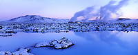 Blue Lagoon near Reykjavik Iceland. Panorama images taken with Hasselblad Xpan camera and Fuji Velvia film.