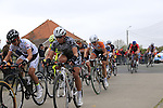 Riders head for the Patterberg during the 2014 Women's Tour of Flanders, Kwaremont, Belgium.<br /> Picture: Eoin Clarke www.newsfile.ie
