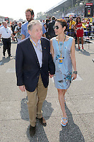 FIA PRESIDENT JEAN TODT WITH WIFE MICHELE YEOH ON THE STARTING GRID .Monza 9/9/2012 .Formula 1.Foto Insidefoto / Bernard Asset / Panoramic .Italy Only