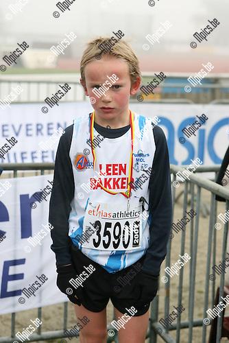PK veldlopen Duffel: Jarrit Agten (Mol) werd  3e bij de Pupillen jongen ?97<br />Contact: 011 735200