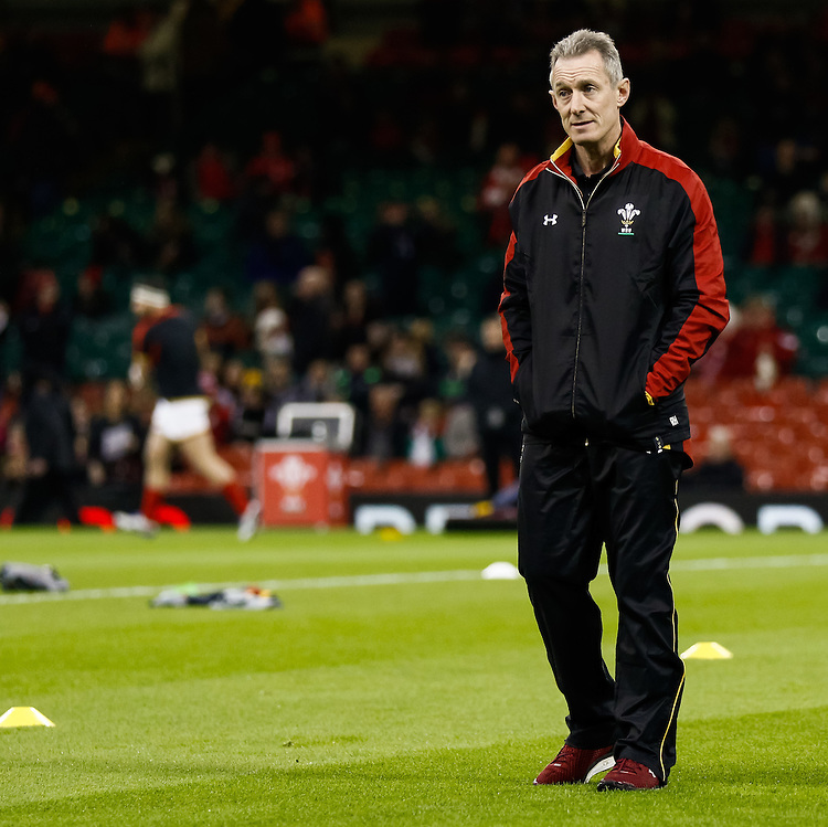 Wales Coach Rob Howely<br /> <br /> Photographer Simon King/CameraSport<br /> <br /> International Rugby Union - RBS 6 Nations Championships 2016 - Wales v Italy - Saturday 19th March 2016 - Principality Stadium, Cardiff <br /> <br /> &copy; CameraSport - 43 Linden Ave. Countesthorpe. Leicester. England. LE8 5PG - Tel: +44 (0) 116 277 4147 - admin@camerasport.com - www.camerasport.com
