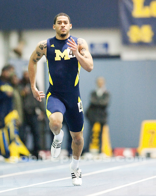 2/20/2010 Michigan men's track and field Silverston Invitational.