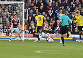 19/04/2016 Sky Bet League Championship  Burnley v Middlesbrough<br /> Ben Mee blocks Jordan Rhodes's shot