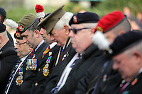 Pictured: Ex servicemen at the service Friday 11 November 2016<br />Re: Remembrance Day service at Castle Square Gardens in Swansea, south Wales, UK.