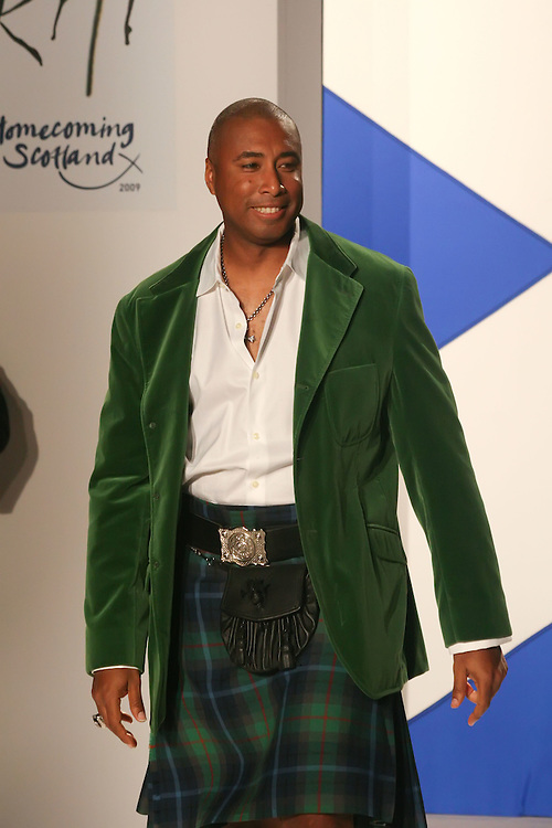 NEW YORK - MARCH 30:  Bernie Williams walks the runway during the 2009 Dressed to Kilt at M2 Club March 30, 2009 in New York City. (Photo by Donald Bowers)