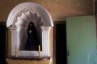 Amérique/Amérique du Sud/Pérou/Arequipa : Rue Corbora - Détail intérieur maison