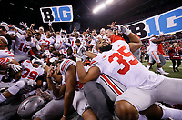 during the first half of the Big Ten Championship game at Lucas Oil Stadium in Indianapolis on Sunday, December 3, 2017. Ohio State won the game 27-21. [Barbara J. Perenic/Dispatch]