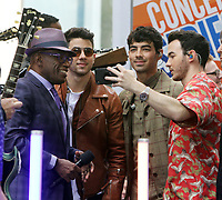 June 07, 2019  Al Roker,Nick Jonas Joe Jonas, Kevin Jonas  of Jonas Brothers at Today Show Concert Series to perform,  talk about new album Happiness Begins and tour in New York June 07, 2019   <br /> CAP/MPI/RW<br /> ©RW/MPI/Capital Pictures