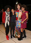 Afra Hines with LaChanze, Storm Lever and Ariana DeBose during the Opening Night Actors' Equity Gypsy Robe Ceremony honoring  Afra Hines for 'Summer:The Donna Summer Musical at Lunt-Fontanne Theatre on April 23, 2018 in New York City.