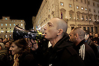 Manifestazione di protesta delle associazioni gay davanti a Palazzo Chigi, Roma, 2 novembre 2010, contro le affermazioni del presidente del consiglio Silvio Berlusconi..UPDATE IMAGES PRESS/Riccardo De Luca