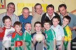 MALE BONDING: Enjoying some sports at the Lad's Night, the KES run pilot programme at the Ballybunion Community Centre on Thursday night, were front l-r: Cillian Courtney, Aidan Long, Robbie Masterson, Kevin Cooke, Joshua Reay, Cillian Walsh O'Boyle and Alan Breen. Back l-r John Long, Vincent Cooke, John Reay, David Breen and PJ O'Boyle.   Copyright Kerry's Eye 2008