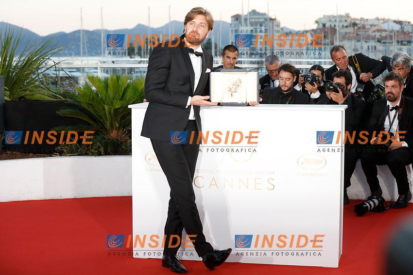 Ruben Ostlund<br /> 28-05-2017 Cannes <br /> 70ma edizione Festival del Cinema <br /> Awards night . Serata Finale <br /> Foto Panoramic/Insidefoto