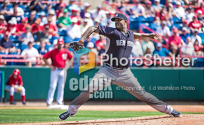 11 March 2014: New York Yankees pitcher CC Sabathia on the mound during a Spring Training game against the Washington Nationals at Space Coast Stadium in Viera, Florida. The Nationals defeated the Yankees 3-2 in Grapefruit League play. Mandatory Credit: Ed Wolfstein Photo *** RAW (NEF) Image File Available ***