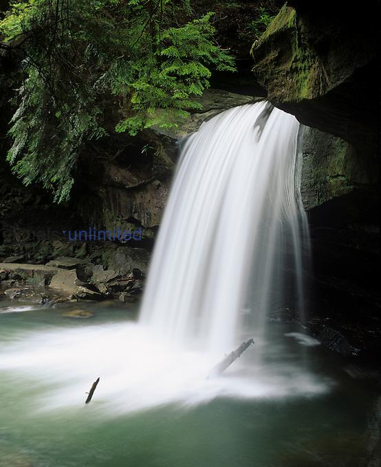 Dogslaughter Falls, Cumberland Falls State Resort Park, Daniel Boone National Forest, Kentucky, USA.