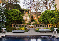 Garden and house. Andrew Fisher and Jeffry Weisman's home in San Miguel de Allende, Mexico. VAYCAY-Weisman&Fisher. Adam Wiseman for the Wall Street Journal