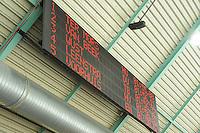SCHAATSEN: HEERENVEEN: 25-10-2013, IJsstadion Thialf, NK afstanden, scorebord, uitslag 1500m dames, ©foto Martin de Jong