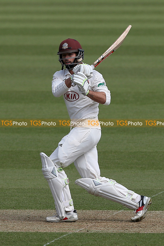 Ben Foakes hits out for Surrey during Surrey CCC vs Essex CCC, Specsavers County Championship Division 1 Cricket at the Kia Oval on 11th April 2019