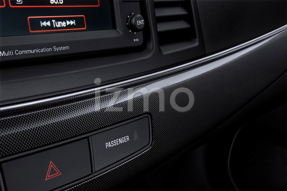 Carbon Fiber Dashboard Trim of a 2010 Mitsubishi Lancer Sportback