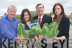 Killorglin are set to become the first town to begin to eliminate food waste in a pilot programme with the EPA and their efforts will be filmed for TV. <br /> L-R Ger Counihan (Bunkers Restaurant), Cliodhna Foley (Sol y Sombra), Eric Champ (Champs Eurospar) and Ruth McCarthy (Killorglin Tidy Towns)