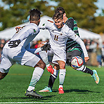 3 October 2015: University of Vermont Catamount Forward/Midfielder Stefan Lamanna, a Junior from Pickering, Ontario, in action against the Binghamton University Bearcats at Virtue Field in Burlington, Vermont. The Catamounts were unable to complete a late game rally, falling to the Bearcats 2-1 in America East conference play. Mandatory Credit: Ed Wolfstein Photo *** RAW (NEF) Image File Available ***
