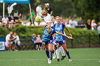 Allston, MA - Sunday July 31, 2016: Stephanie Verdoia, Becky Edwards during a regular season National Women's Soccer League (NWSL) match between the Boston Breakers and the Orlando Pride at Jordan Field.