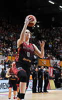 20200206 – OOSTENDE ,  BELGIUM : Belgian Emma Meesseman (11) pictured during a basketball game between the national teams of Canada and the National team of Belgium named the Belgian Cats on the first matchday of the FIBA Women's Qualifying Tournament 2020 , on Thursday 6  th February 2020 at the Versluys Dome in Oostende  , Belgium  .  PHOTO SPORTPIX.BE   DAVID CATRY