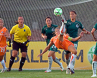 Sky Blue FC defender Keeley Dowling (17) during a WPS match at Anheuser Busch Soccer Park, in St. Louis, MO, July 22 2009. Athletica won the match 1-0.