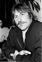 Montreal (Qc) CANADA -1989 File Photo -<br /> <br /> Gerard Depardieu, press conference<br /> <br /> <br /> <br /> photo (c) Pierre Roussel - Images Distribution