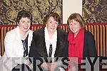 Breda O'Connor from Knocknagoshal, Mary O'Connor from Duagh and Dolly Mangan from Knocknagoshal enjoying the Feales Bridge Social last Friday night in The Devon Inn, Templeglantine.