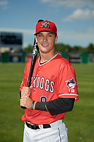 Batavia Muckdogs Andrew Turner (9) poses for a photo before a NY-Penn League game against the West Virginia Black Bears on June 26, 2019 at Dwyer Stadium in Batavia, New York.  Batavia defeated West Virginia 4-2.  (Mike Janes/Four Seam Images)
