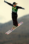 16 January 2005 - Lake Placid, New York, USA - Anna Zukal representing Russia, competes in the FIS World Cup Ladies' Aerial acrobatic competition, ranking 6th for the day at the MacKenzie-Intervale Ski Jumping Complex, in Lake Placid, NY. ..Mandatory Credit: Ed Wolfstein Photo.