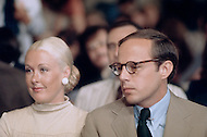 Washington DC,1973. John Dean (with wife Maureen) testifies at Watergate Hearings. A break in at the Democratic National Committee headquarters at the Watergate complex on June 17, 1972 results in one of the biggest political scandals the US government has ever seen. Effects of the scandal ultimately led to the resignation of President Richard Nixon, on August 9, 1974, the first and only resignation of any U.S. President.