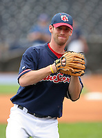 Pitcher Craig Breslow of the Pawtucket Red Sox during warmups before the Triple-A All-Star Game at Fifth Third Field on July 12, 2006 in Toledo, Ohio.  (Mike Janes/Four Seam Images)