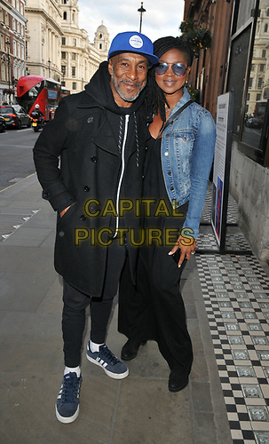 """Danny John-Jules and Petula Langlais at the """"Dark Sublime"""" gala performance, Trafalgar Studios, Whitehall, London, England, UK, on Monday 01st July 2019.<br /> CAP/CAN<br /> ©CAN/Capital Pictures"""