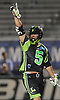 Joe LoCascio #5 of the New York Lizards reacts after scoring a game-winning two-point goal in the final minute of play to lift his team to a 15-14 win over the Ohio Machine in a Major League Lacrosse game at Shuart Stadium in Hempstead, NY on Thursday, June 29, 2017.