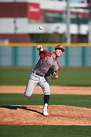 Cullen Moes (7) of St. Bonaventure High School in Ventura, California during the Baseball Factory All-America Pre-Season Tournament, powered by Under Armour, on January 13, 2018 at Sloan Park Complex in Mesa, Arizona.  (Zachary Lucy/Four Seam Images)