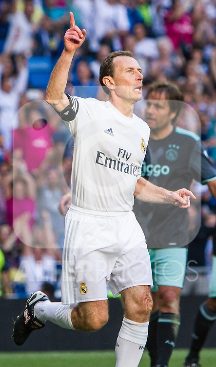 Emilio Butrageno during the Corazon Classic Match 2016 at Estadio Santiago Bernabeu between Real Madrid Legends and Ajax Legends. Jun 5,2016. (ALTERPHOTOS/Rodrigo Jimenez)